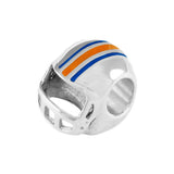 13212 - Orange & Blue Enameled Gator Helmet Bead
