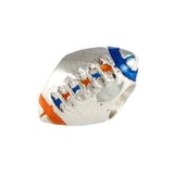 Orange & Blue Enameled Gator Football Bead - Lone Palm Jewelry
