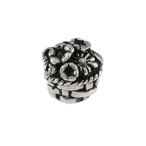 Flower Basket Bead - Lone Palm Jewelry