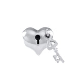 Heart Locket & Key Dangle Bead - Lone Palm Jewelry