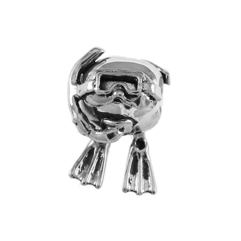 Jacques Beadsteau Moveable Diver Bead - Lone Palm Jewelry