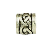 Celtic Knot Border Barrel Bead - Lone Palm Jewelry