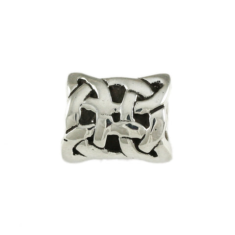 Celtic Knot Pillow Bead - Lone Palm Jewelry