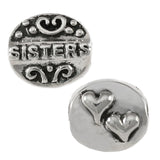SISTERS Double Heart Bead - Lone Palm Jewelry
