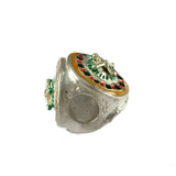 Enameled Roulette Wheel Bead - Lone Palm Jewelry