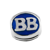 "13423e - Enameled Bethany Beach ""BB"" Bead"