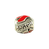 Enameled Boston Red Sox Bead - Lone Palm Jewelry