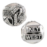 """Key West"" & Beach Scene Bead - Lone Palm Jewelry"