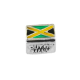 """Out of Many One People"" Jamaica Flag Bead - Lone Palm Jewelry"