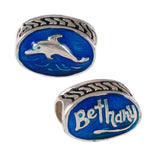 BETHANY Beach Enameled Dolphin Bead - Lone Palm Jewelry