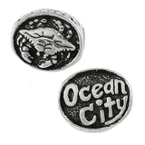 OCEAN CITY Crab Oval Bead - Lone Palm Jewelry