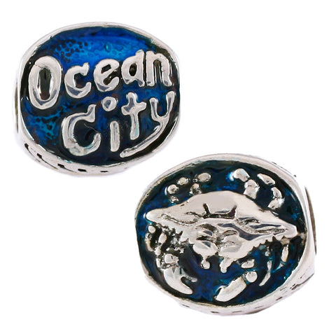 Enameled Ocean City Crab Bead - Lone Palm Jewelry