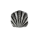 Textured Scallop Shell Bead - Lone Palm Jewelry