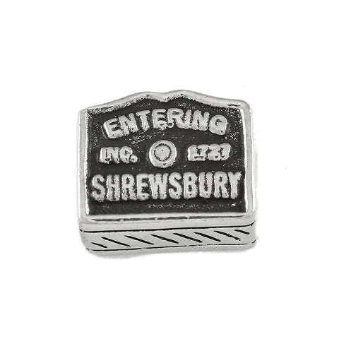 """Entering Shrewsbury"" Sign - Lone Palm Jewelry"