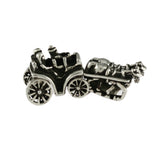 Horse & Carriage 2 Part Bead with Moving Wheels - Lone Palm Jewelry