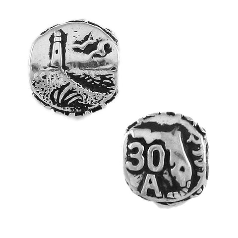 30A State Road Florida Beach Bead - Lone Palm Jewelry