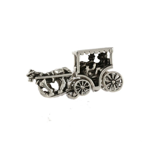 Horse & Surrey Carriage 2 Part Bead with Moving Wheels - Lone Palm Jewelry