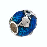 Enameled Planet Earth Globe Bead - Lone Palm Jewelry