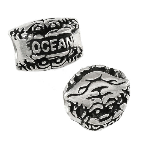 OCEAN CITY Double Sided Crab Bead - Lone Palm Jewelry