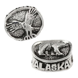 ALASKA Eagle & Bear Bead - Lone Palm Jewelry