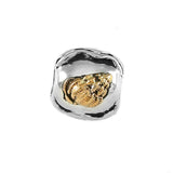 14kt Vibex Shell & Sterling Waves Bead - Lone Palm Jewelry