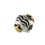 14kt Sea Turtle & Sterling Waves Bead - Lone Palm Jewelry