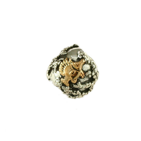 14kt Butterfly Fish & Sterling Reef Bead - Lone Palm Jewelry