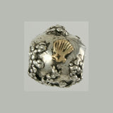13611a - 14k Clam Shell & Sterling Reef Bead