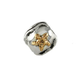 14kt Starfish on Sterling Wave Bead - Lone Palm Jewelry