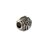 13622a - 14kt Turtle on Sterling Leaf Fronds Bead - Lone Palm Jewelry