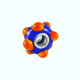 Glass Gator Orange & Blue Bumpy Bead - Lone Palm Jewelry