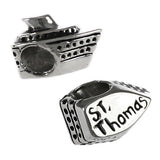 ST THOMAS 3-D Cruise Ship Bead - Lone Palm Jewelry