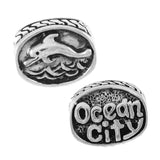OCEAN CITY & Dolphin Oval Bead - Lone Palm Jewelry