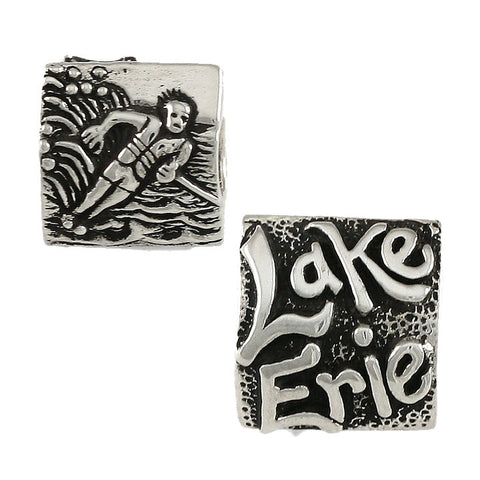 LAKE ERIE Water Skier Bead - Lone Palm Jewelry