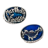 Enameled Martha's Vineyard with Map - Lone Palm Jewelry