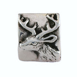 Deer Head & Hoof Print Pillow Bead - Lone Palm Jewelry