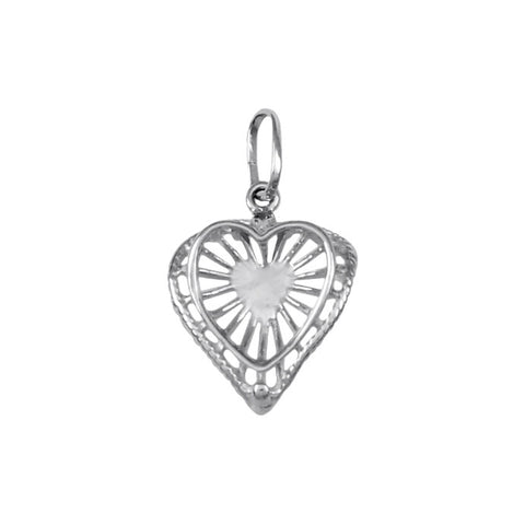 14274 - Open Lace Heart Pendant - Lone Palm Jewelry
