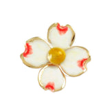 "14491 - 7/8"" Enameled Dogwood Pendant - Lone Palm Jewelry"