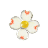"7/8"" Enameled Dogwood Pendant - Lone Palm Jewelry"
