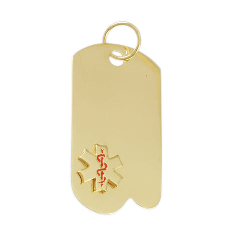 "1 7/8"" Medical ID Tag - Lone Palm Jewelry"