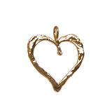 14549 - Textured Hammered Heart - Lone Palm Jewelry