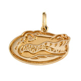 "14555 - 1"" Albert Gator Head Pendant - Satin Finish - Lone Palm Jewelry"