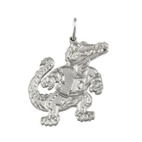 "1"" Sterling Albert Gator Pendant - Satin Finish - Lone Palm Jewelry"