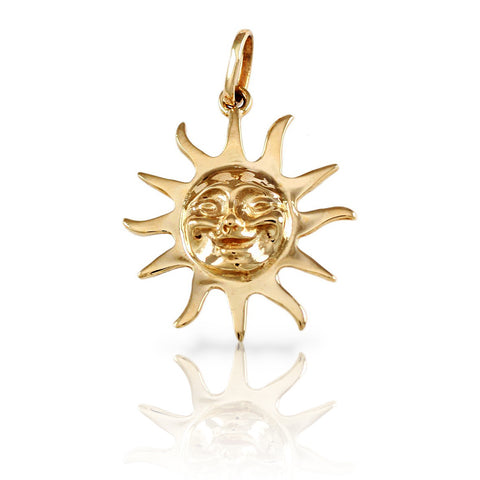 "1"" Smiling Sun Pendant - Lone Palm Jewelry"