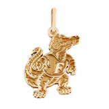 "14773 - 1 1/4"" Albert Gator Pendant - Satin Finish - Lone Palm Jewelry"