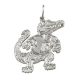 "1 1/4"" Sterling Albert Gator Pendant - Satin Finish - Lone Palm Jewelry"