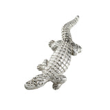 "1 3/4"" Sterling Alligator Pendant with Hidden Bail - Lone Palm Jewelry"