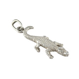 "1"" Sterling Alligator Pendant - Lone Palm Jewelry"