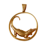 14783 - Alligator Pendant in Round Frame
