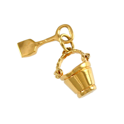 "3/4"" Sand Pail & Shovel Charm Cluster - Lone Palm Jewelry"